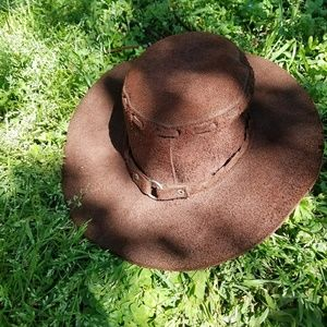 Leather Hat Made In Mexico